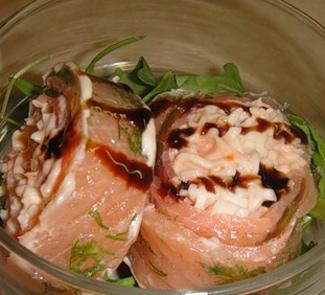 Рецепт Рулет из норвежского лосося