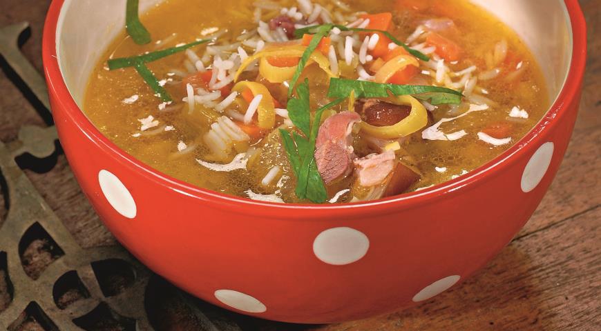 Рецепт Рисовый суп с окороком