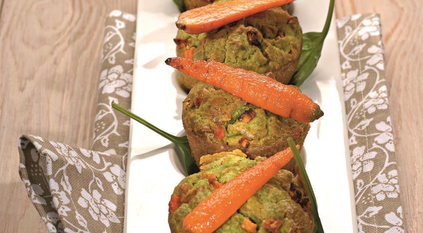 Рецепт Морковные кексы с пармезаном