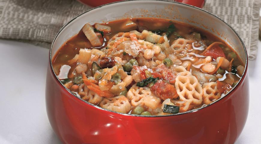 Рецепт Минестроне с пастой и овощами