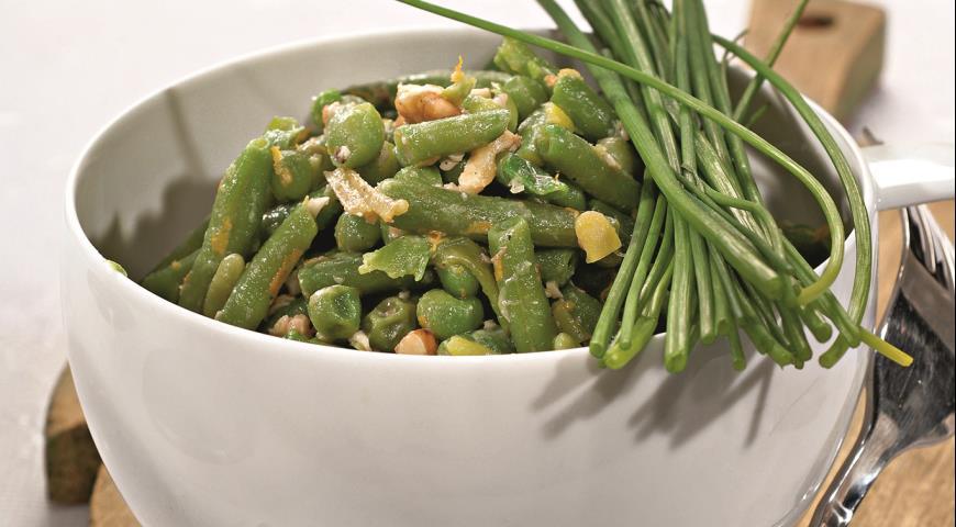 Рецепт Зеленая фасоль с фундуком