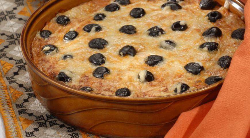 Рецепт Клафути из тунца с черными оливками