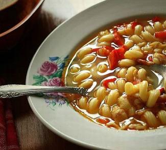 Рецепт Суп с беконом и пастой