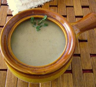 Рецепт Грибной суп с топинамбуром и каштанами
