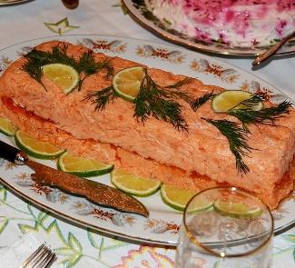 Рецепт Рыбный паштет с красной икрой