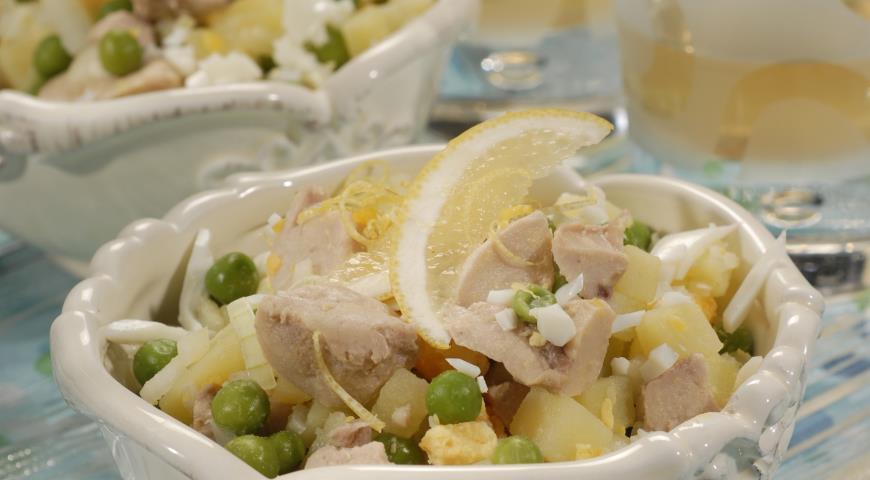 Рецепт Салат из печени трески