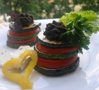 Рецепт Теплая овощная закуска с тапенадом