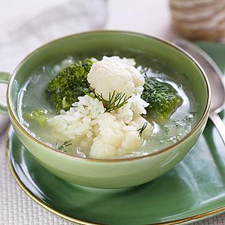 Рецепт Суп из брокколи и цветной капусты в мультиварке