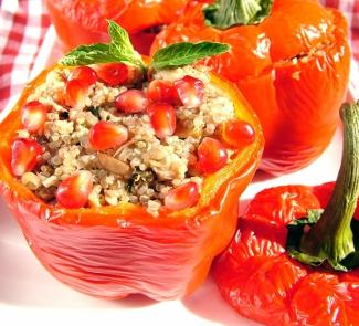 Рецепт Перцы, фаршированные мясом и киноа