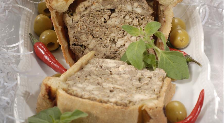 Рецепт Мясной паштет с грибами