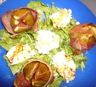 Рецепт Запеченный инжир с пармой и руколой