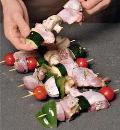 Шашлыки из курицы с овощами. Шаг 4