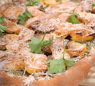 Рецепт Картофельный пирог со шпинатом