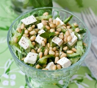 Рецепт Огуречный салат с фетой