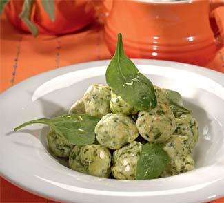 Творожные ньокки со шпинатом