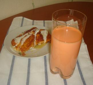 Рецепт Морковный сок со сливками