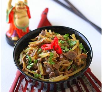Рецепт Салат из куриных желудочков по-корейски