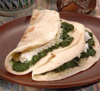Рецепт Турецкие лепешки со шпинатом