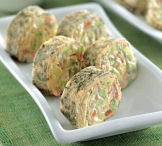 Рецепт Роллы из омлета с овощами