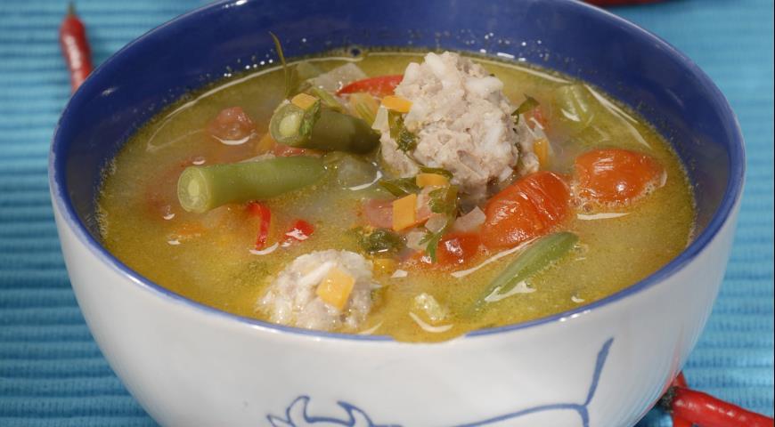 Рецепт Суп с фрикадельками по-испански