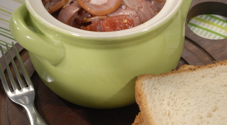 Рецепт Свиные сардельки в томатном соусе
