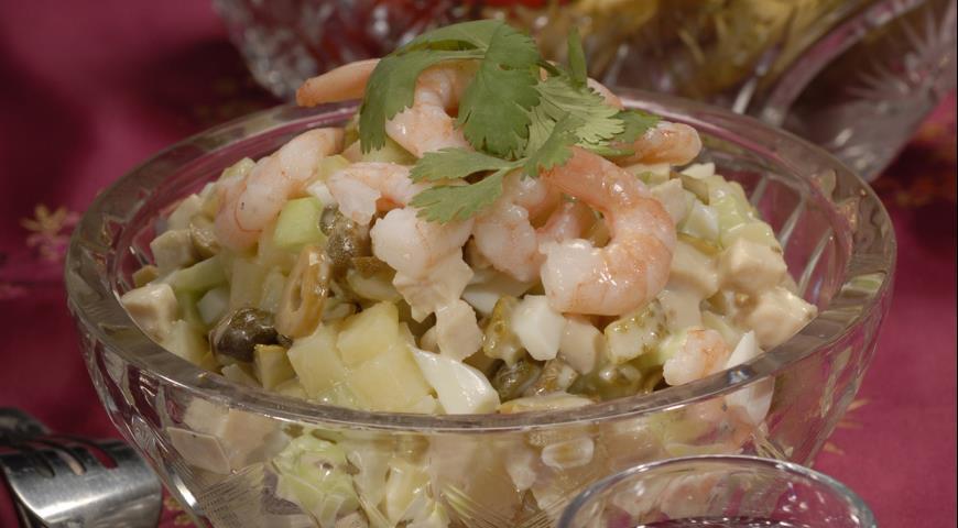 Рецепт Салат оливье c острым майонезом