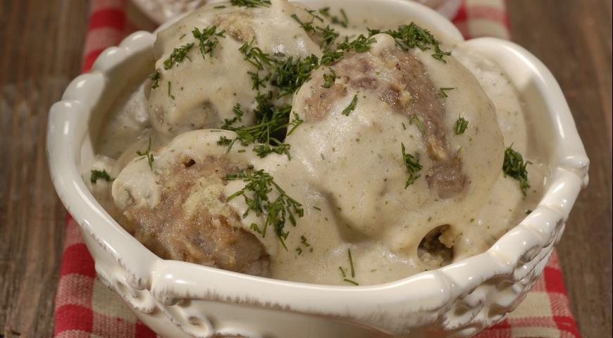 Рецепт Тефтели в сливочно-сырном соусе