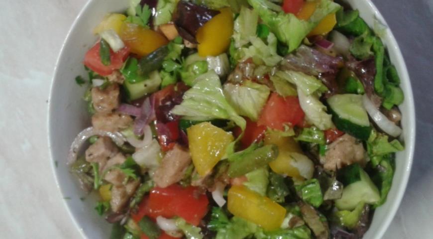 Фасолевый салат  43 рецепта с фото пошагово Как