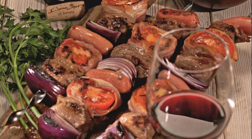 Рецепт Шашлыки с соусом из хрена
