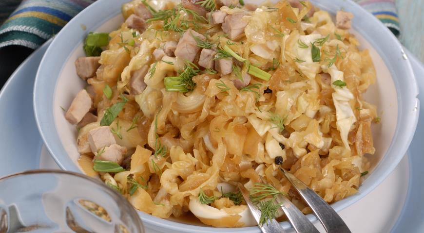 Рецепт Капуста в карамели с чесноком