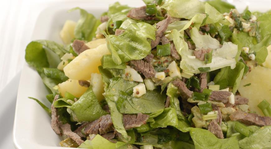 Рецепт Зеленый салат с мясом