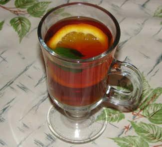 Рецепт Чай с апельсином, мятой и медом