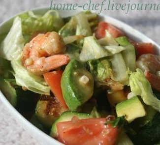 Рецепт Калифорнийский резаный салат с креветками