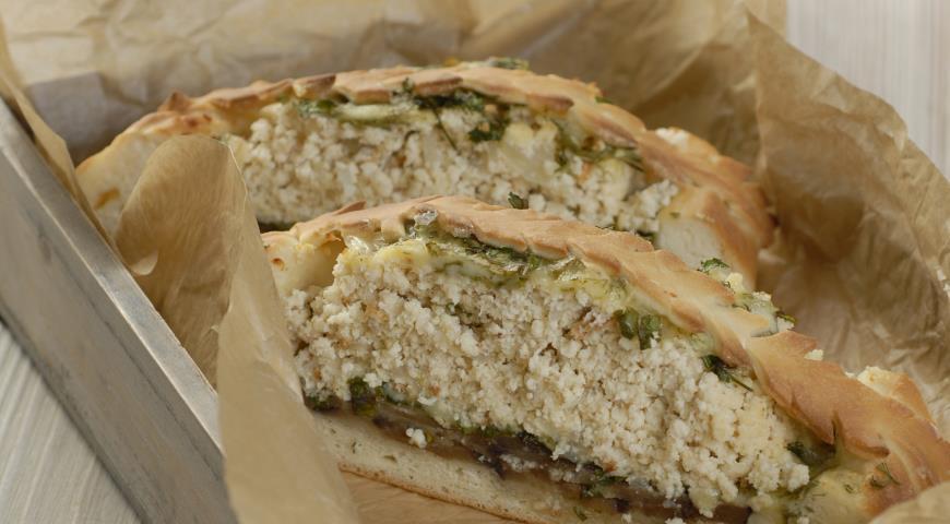 Рецепт Пирог с легким, сыром и баклажанами