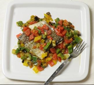 Рецепт Треска с маринованными овощами