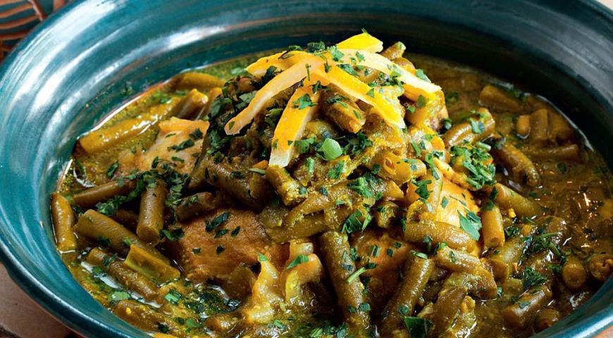 Рецепт Тажин из курицы с зеленой фасолью