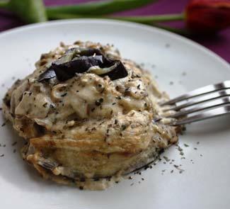 Рецепт Баклажаны, запеченные с шампиньонами