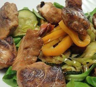 Рецепт Теплый салат с лососем в японском стиле