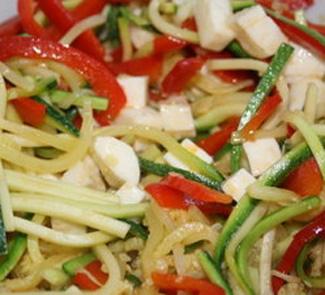 Рецепт Цукини-паста с моццареллой