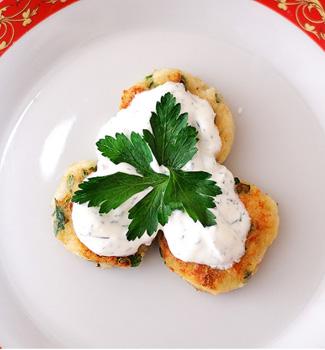 Рецепт Рыбно-картофельные биточки с соусом