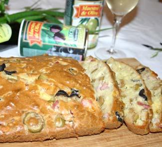 Рецепт Оливковый хлеб с окороком