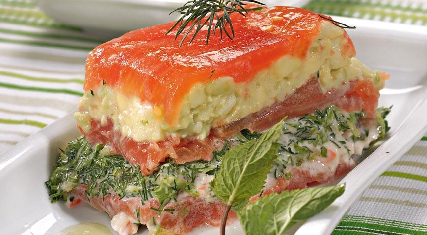 Рецепт Мильфей из томатов