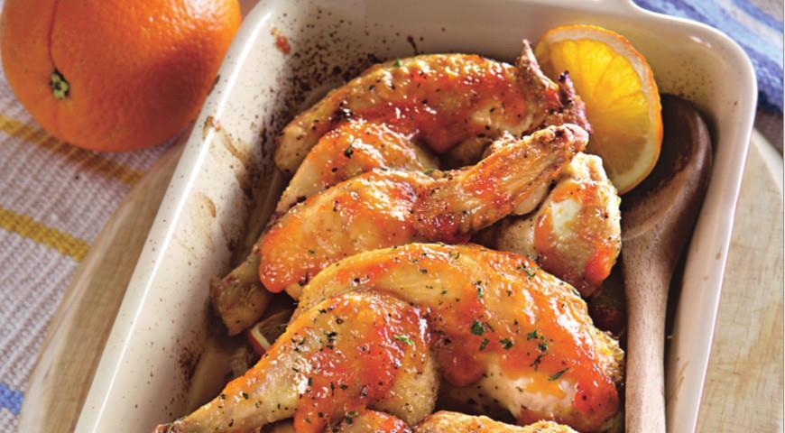 Рецепт Цыплята в имбирно-апельсиновой глазури