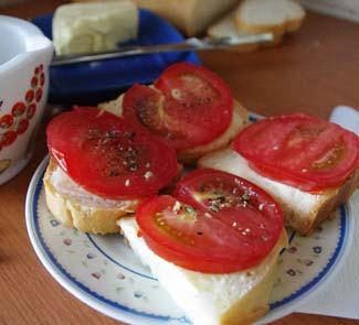 Рецепт Простейший летний бутерброд