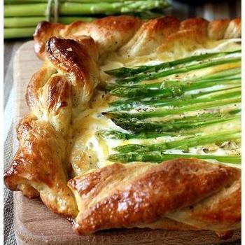 Рецепт Пирог со спаржей