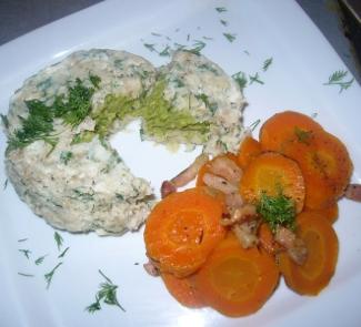Рецепт Рыбное суфле с зеленым горошком