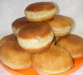 Рецепт Пончики-пирожки с несладкой начинкой