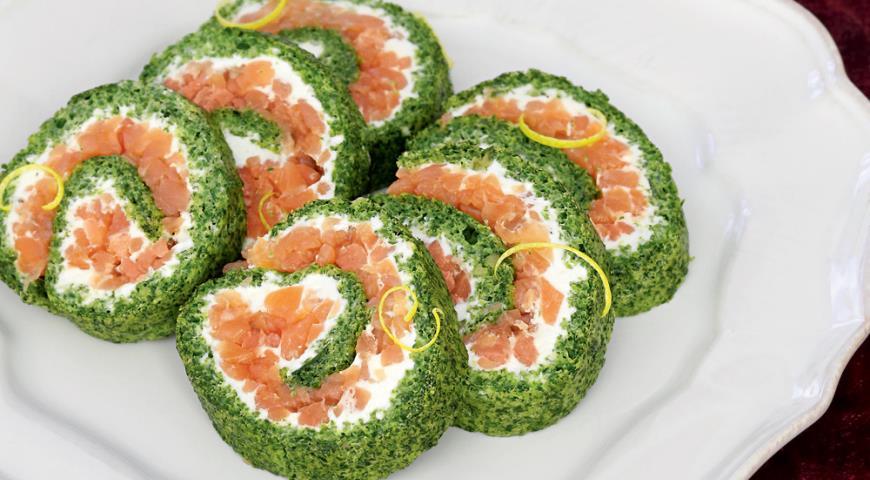Рецепт Рулет с копченым лососем