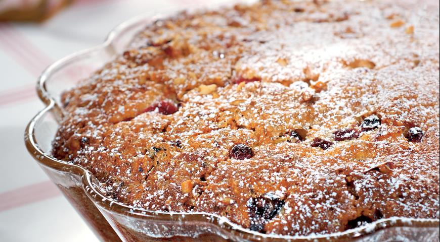Рецепт Кекс с клюквой и орехами