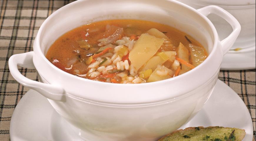 Рецепт Овощной суп с песто